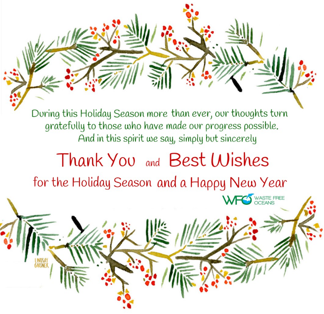 Warm Wishes for this Holiday Season from Waste Free Oceans
