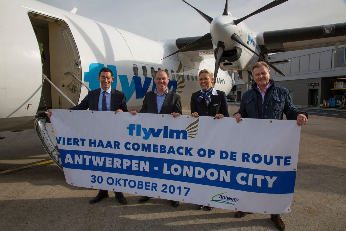 Neil Dillon (Marketing & Customer Director London City Airport), Andrew Daines (Director Visit Flanders - UK & Ireland) and Peter Döhr (Senior Sales Manager VLM Airlines)