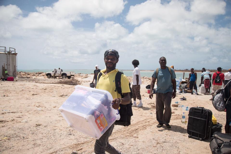 Residents of Barbuda being evacuated as Hurricane Jose approached following Hurricane Irma.