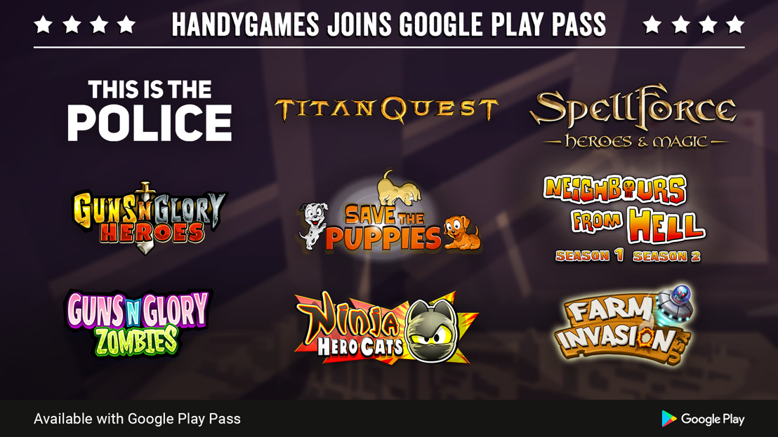 HandyGames to join Google Play Pass with a strong premium games lineup