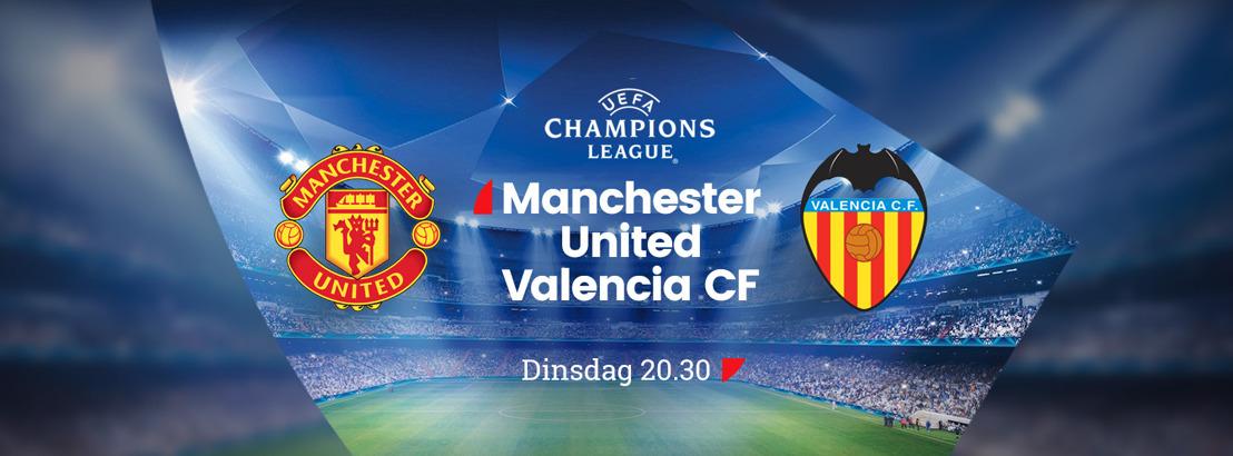 Champions League-wedstrijd Manchester United – Valencia morgen voor het eerst live op ZES met studiogast Jacky Mathijssen