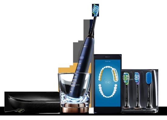 Sonicare avec le Diamond clean smart pour des soins bucco-dentaires personnalisés.