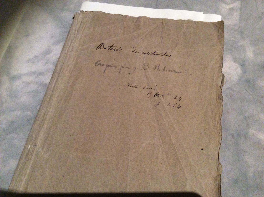This rather unremarkable folder is an 1815 album filled with small sketches of costume studies by Jean-Baptiste Rubens