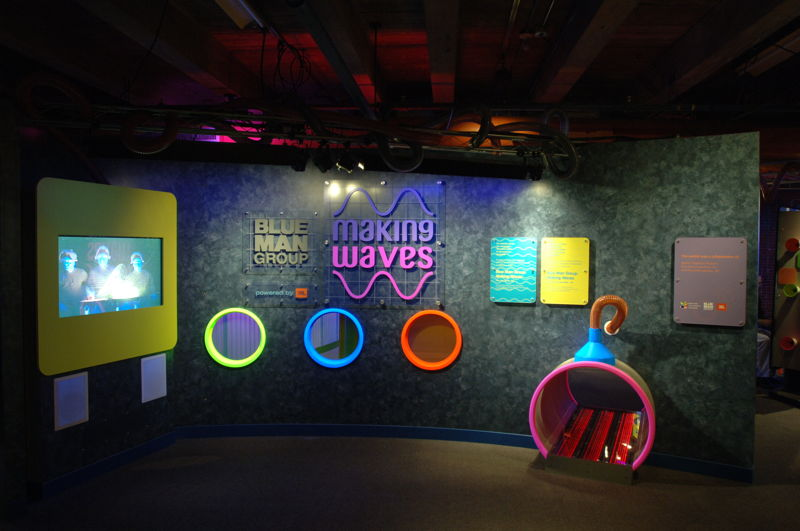 Blue Man Group - Making Waves exhibit (Courtesy of Boston Children's Museum)