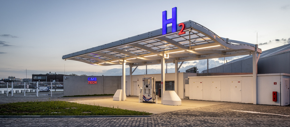 CMB.TECH opens world's first multimodal hydrogen refuelling station and presents the hydrogen truck Lenoir