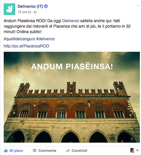 Arrivo a Piacenza - FB
