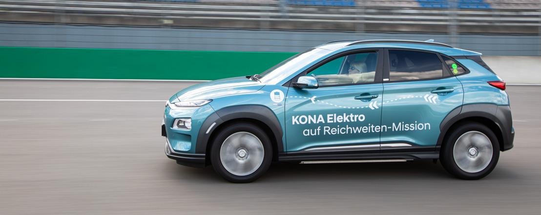 Hyundai KONA electric stabilisce un nuovo record percorrendo 1'026 chilometri