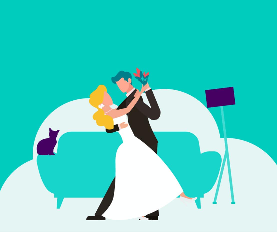 Organiseer een virtuele bruiloft dankzij DELIVEROO