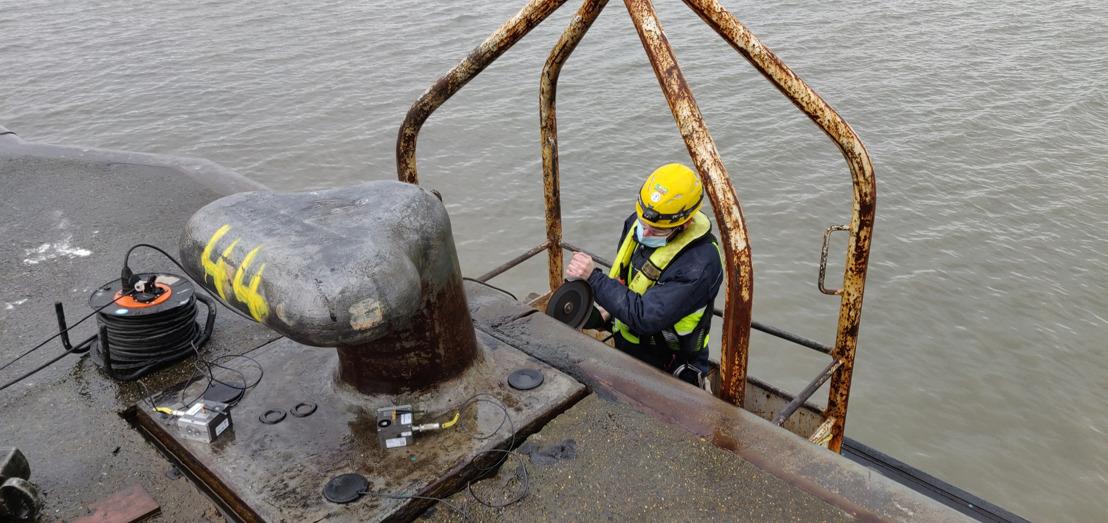 Port of Antwerp installeert slimme bolders met sensoren