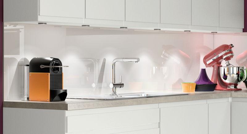 Wandpaneel wit glas - Crédence verre blanc ©èggo