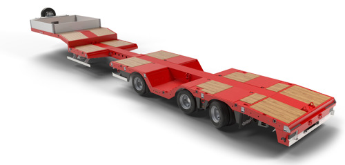 Nooteboom introduces new extendible lightweight semi low loader with wheel wells