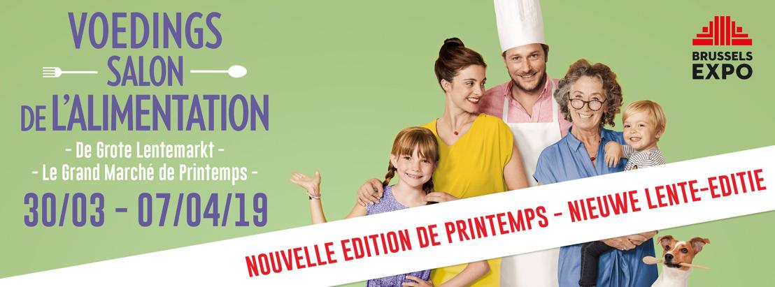 Nieuwe lente-editie voor het iconische Voedingssalon: afspraak van 30 maart tot 7 april