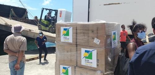 La Région Guadeloupe organise la solidarité pour Saint-Vincent