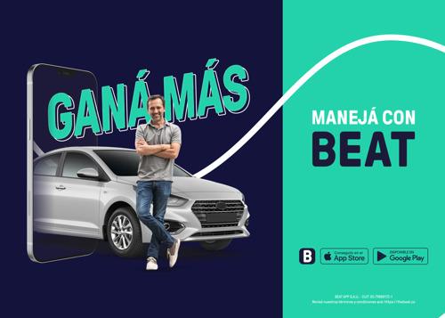 """Con la campaña """"Abrile la puerta a Beat"""" la app de movilidad convoca a conductores"""