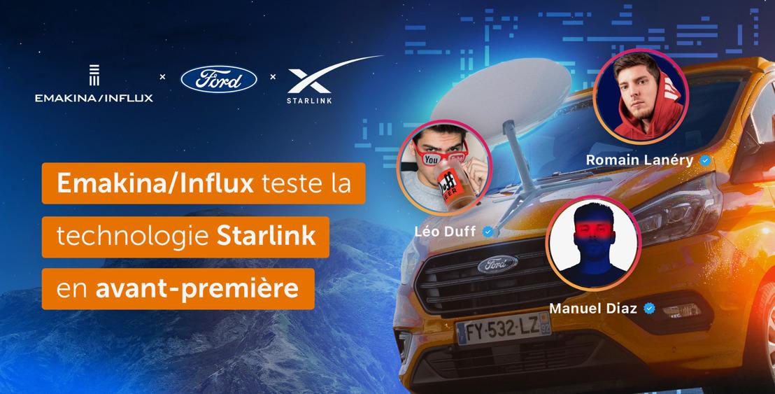 Emakina/Influx teste la technologie Starlink en avant-première