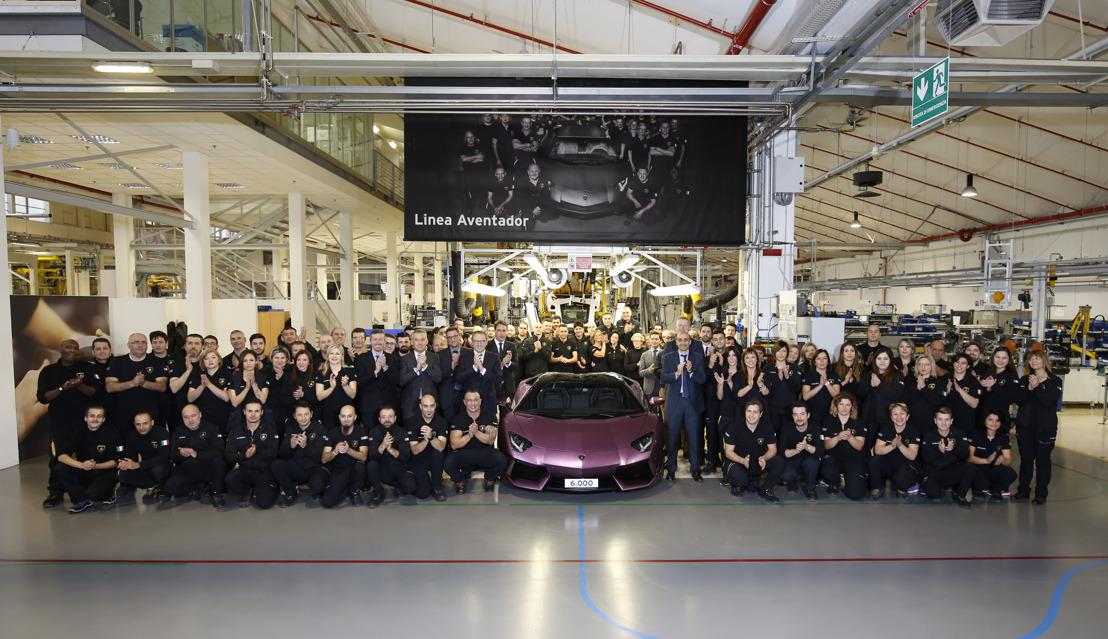 Nieuw recordjaar voor Automobili Lamborghini: 3.457 nieuwe auto's geleverd in 2016