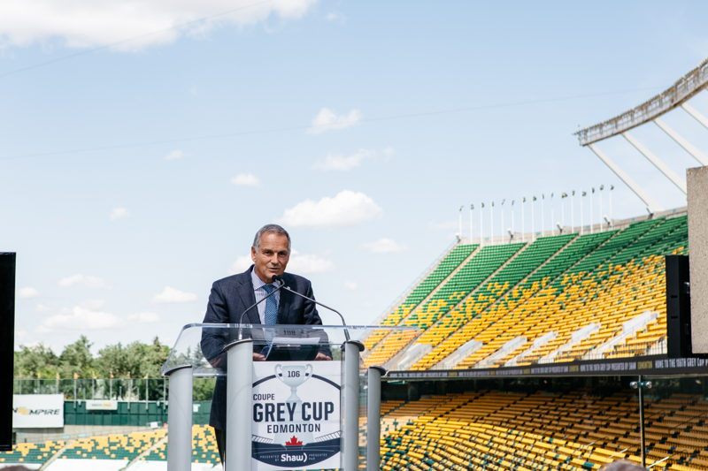 Chairman of the CFL Board of Governors Jim Lawson. Photo Credit: Cooper & O'Hara Photography/CFL