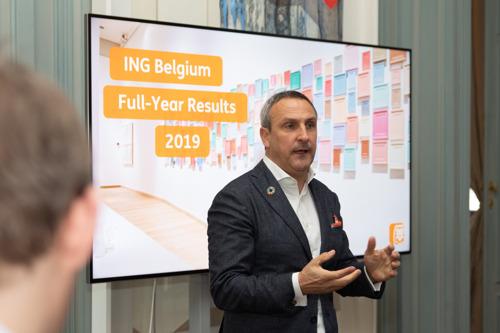 Résultats annuels 2019 d'ING Belgique: Plus d'un client sur 2 gère ses opérations bancaires via smartphone ou en ligne