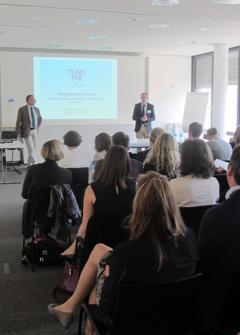 Michael Bothe, representing TEAM-NB, during his presentation