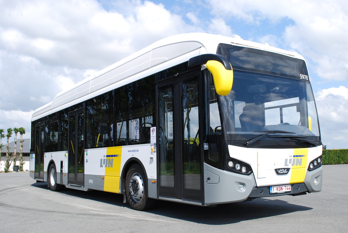 Een hybride bus van VDL uit Roeselare.