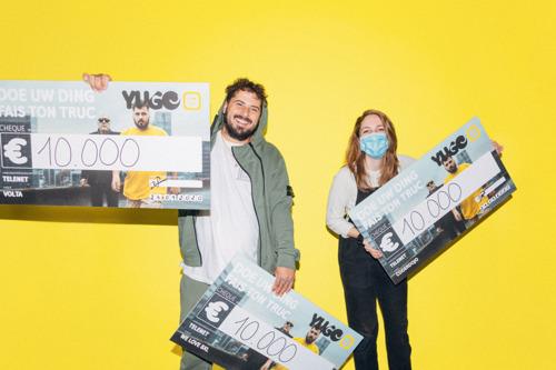 Telenet YUGO fait don de 30.000 € à des associations caritatives après un songraiser porté par le duo Arno et Zwangere Guy