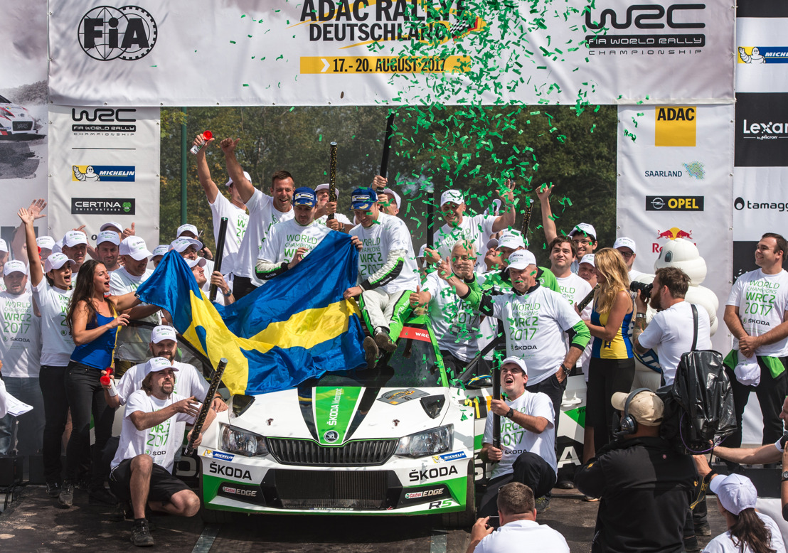 ADAC Rallye Deutschland: Tidemand/Andersson and ŠKODA secure WRC 2 titles