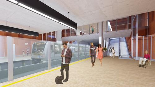 Métro 3 : visite du chantier de la future station Toots Thielemans