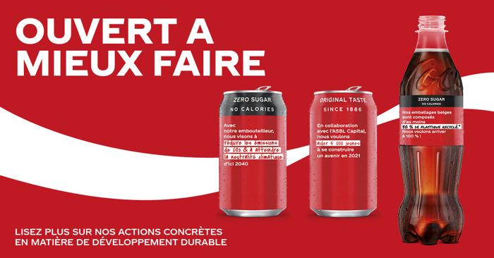 Ensemble pour une année 2021 plus belle : Coca-Cola propage de l'espoir et des bonnes résolutions via ses canettes et ses bouteilles
