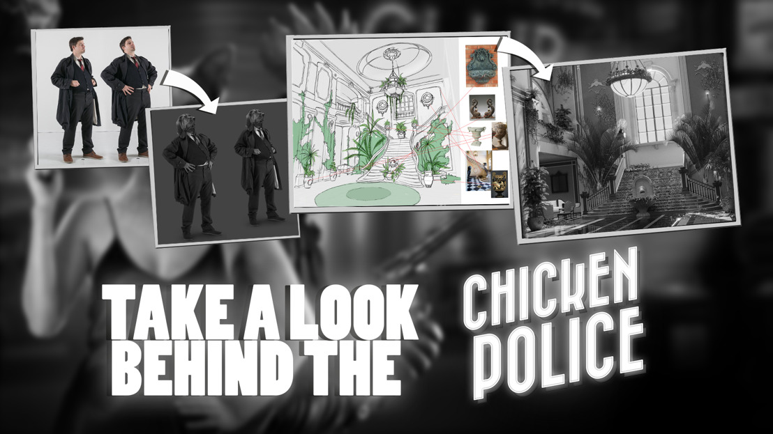 "Take a look behind the ""Chicken Police - Paint it Red!"""