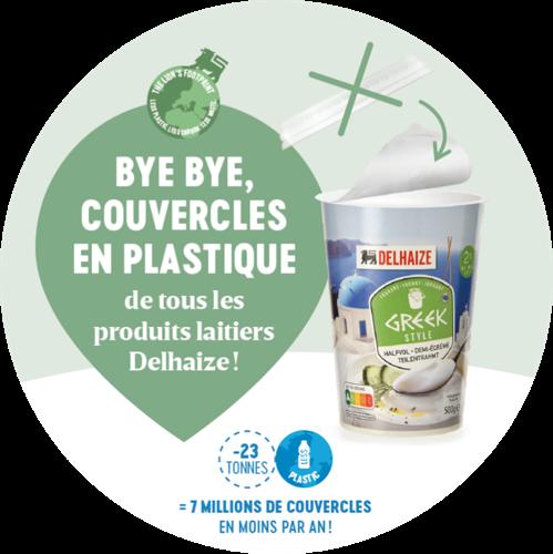 Opération « couvercle en plastique » chez Delhaize : 7 millions de couvercles en moins par an