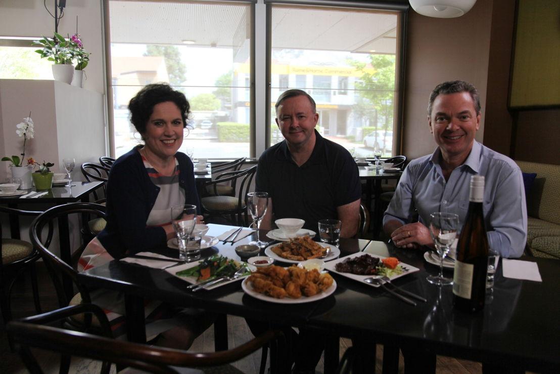 Annabel Crabb, Anthony Albanese & Christopher Pyne