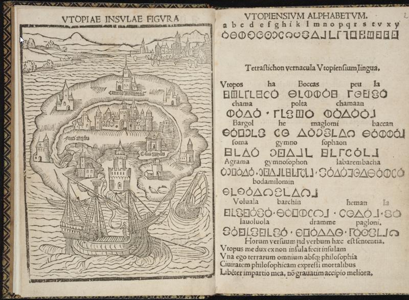 In Search of Utopia © Thomas Morus, The description of the isle of Utopia, 1550, ed. Paris, University Library – Tabularium, Leuven