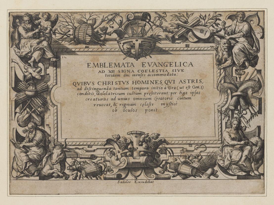 Titelplaat van Hans Bols 'Emblemata Evangelica'