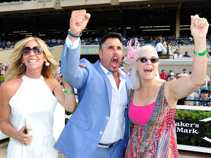 In the winner's circle with Don Diamont at the 2015 Lung Cancer Foundation Day at the Races