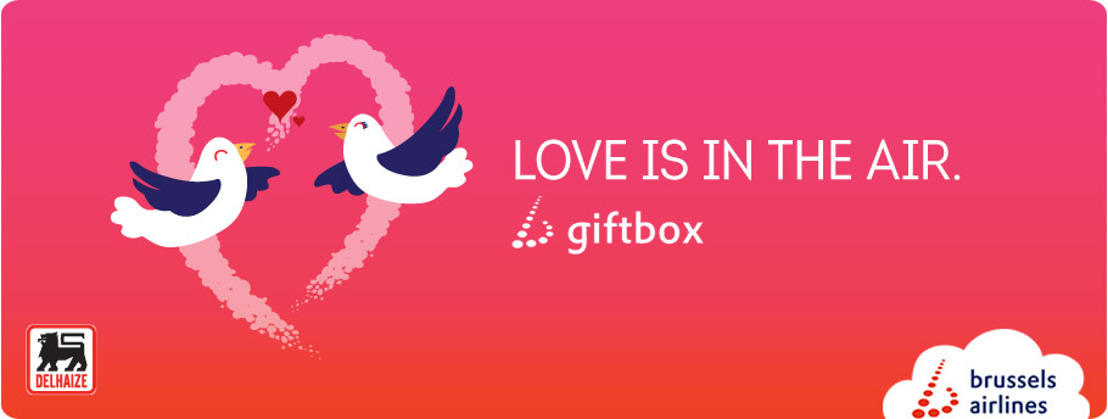 Brussels Airlines and Delhaize create Valentine's Day gift box