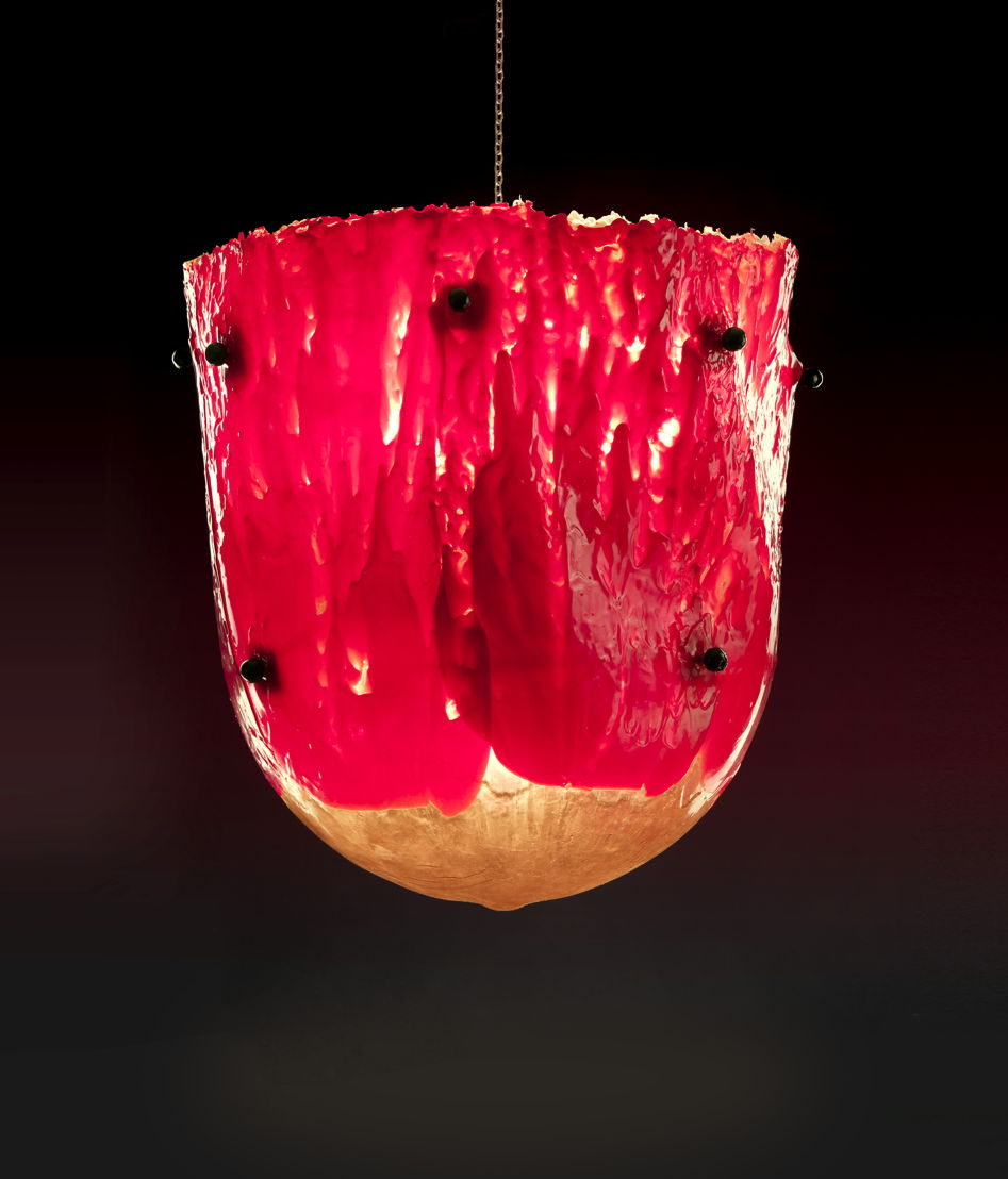 Gaetano Pesce: What It Is To Be Human Lamp at The Peninsula Chicago