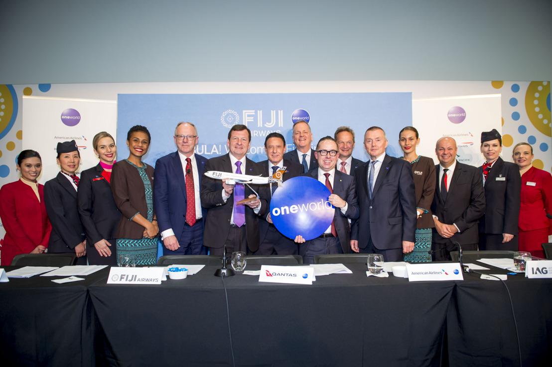 「寰宇一家」歡迎斐濟航空加入oneworld connect