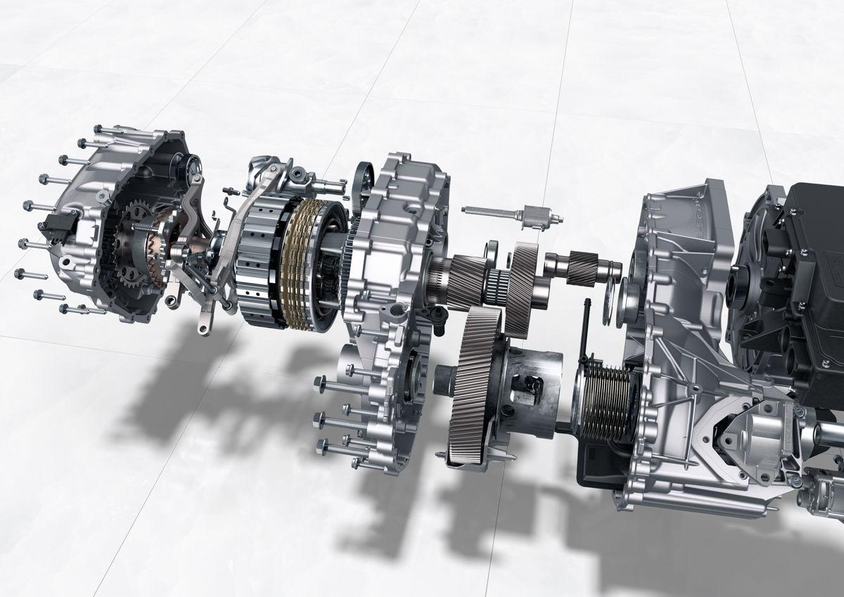 Taycan: transmisión de dos velocidades en el eje trasero.