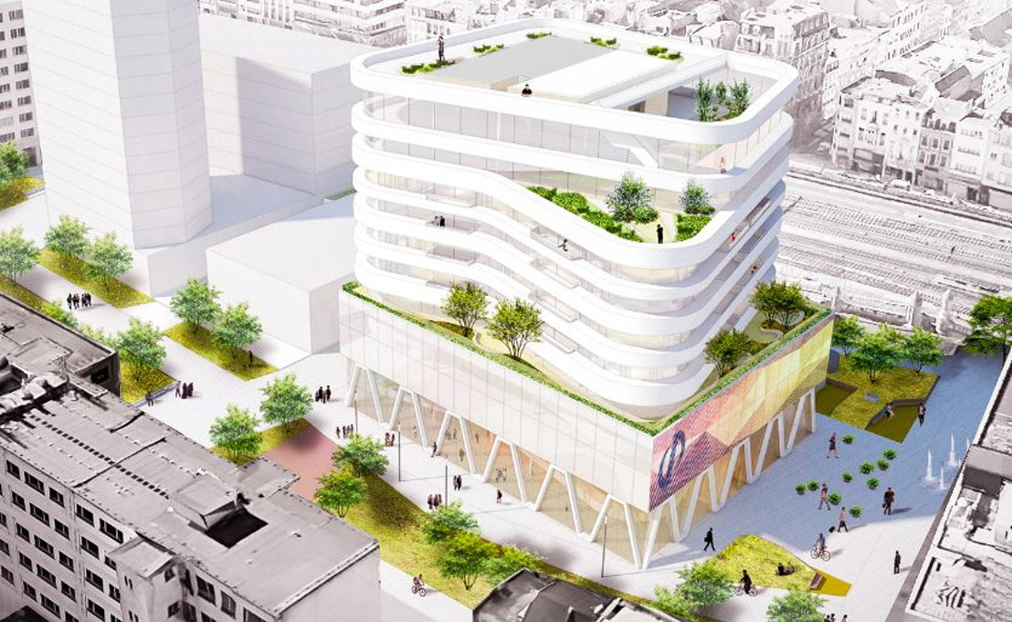 BESIX builds new head office for De Persgroep at the Kievitplein (Antwerp Central Station)