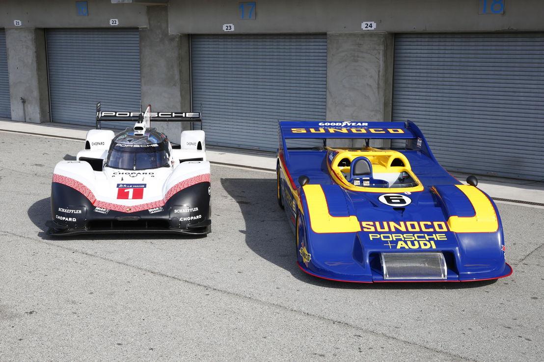Porsche Rennsport Reunion VI, Laguna Seca: Porsche 919 Hybrid Evo (izq.) y Porsche 917/30