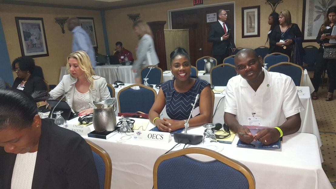 Dr. Lorraine Nicholas and Mr. Clarence Henry of the OECS Commission