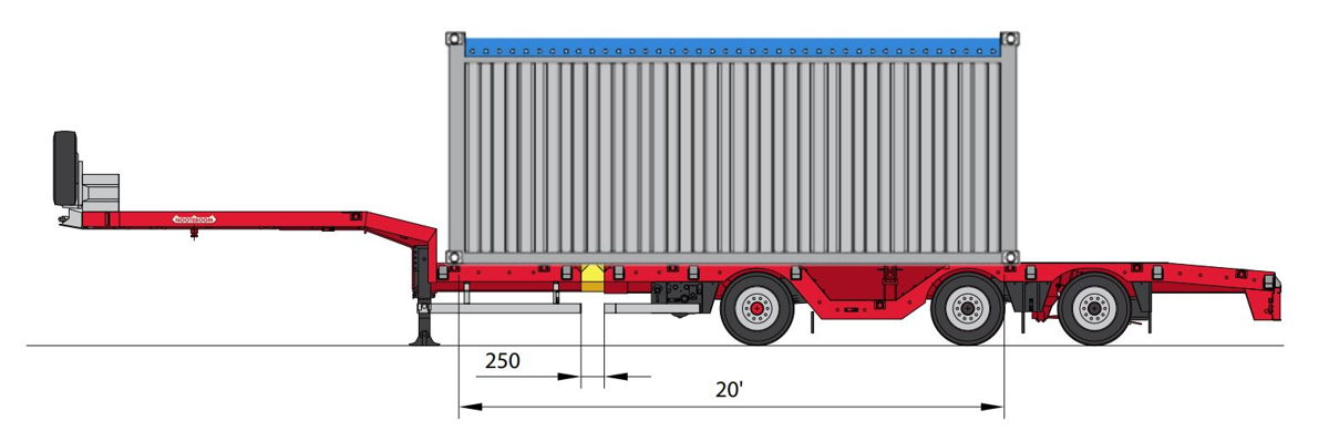 OSDS-48-03V(EBW) with 20 feet container