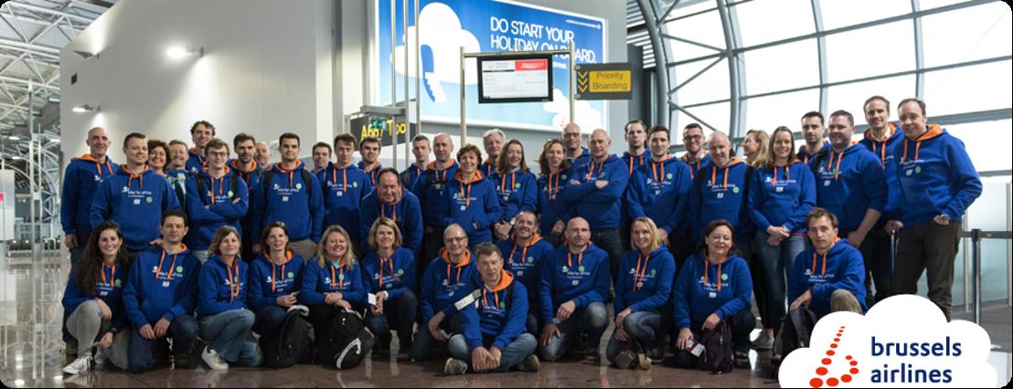 Brussels Airlines werknemers fietsen samen met Belgische CEO's in Afrika voor het goede doel