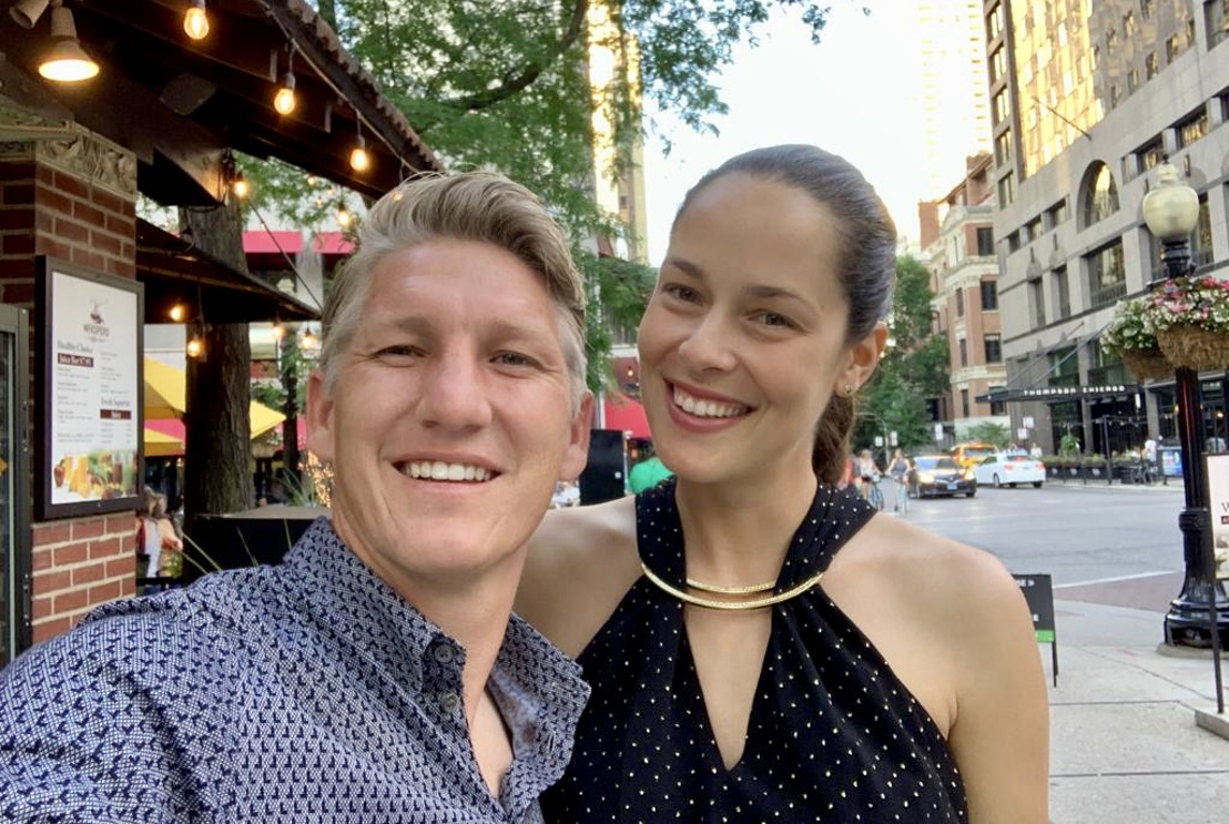 World class athletes Bastian Schweinsteiger and Ana Schweinsteiger-Ivanovic promote BRAX