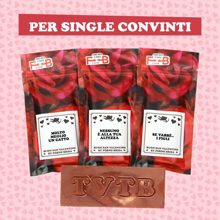 Forno Brisa lancia la nuova linea di tavolette di cioccolato ispirate a San Valentino