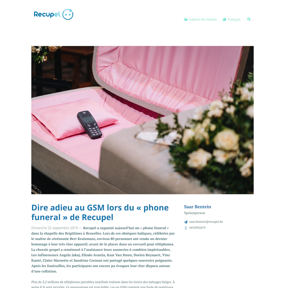 Dire adieu au GSM lors du « phone funeral » de Recupel