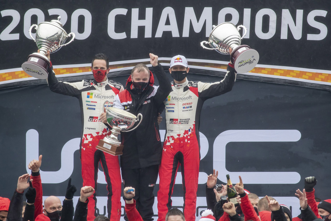 Ogier and Ingrassia become seven-time world champions with TOYOTA GAZOO Racing
