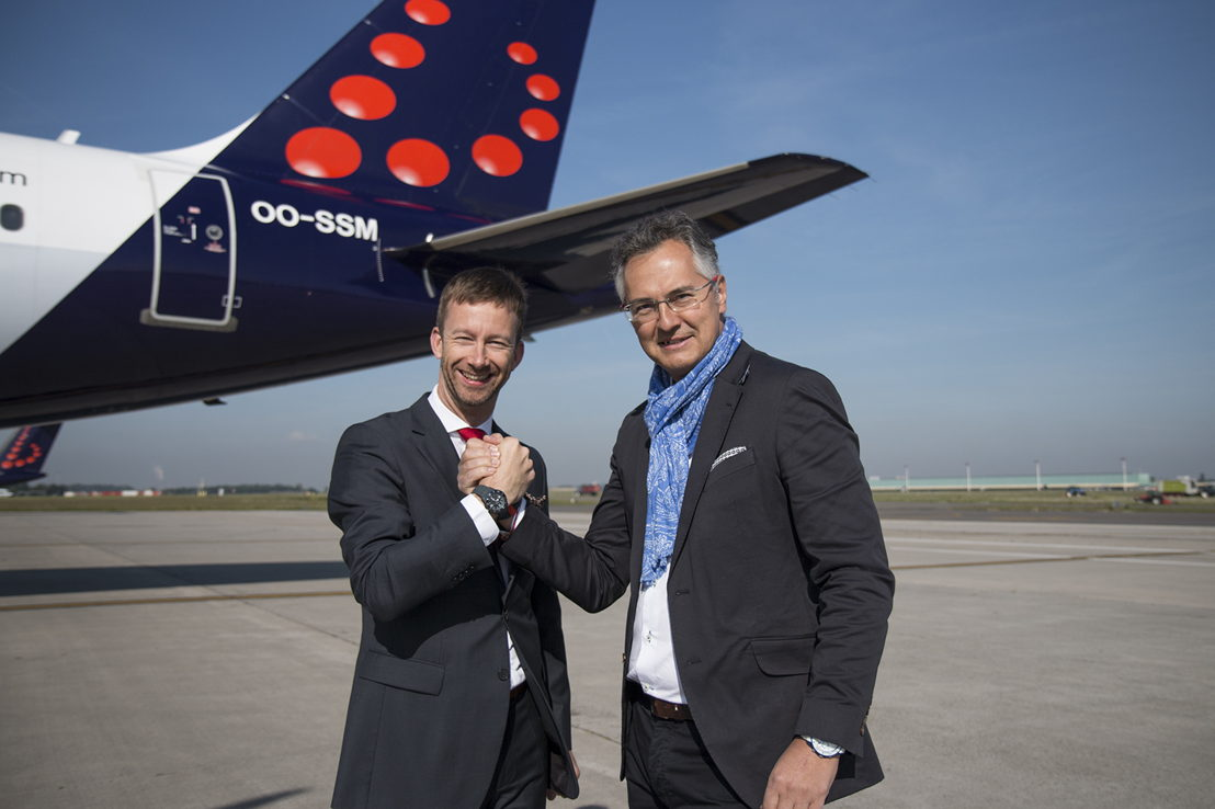 Brussels Airlines CCO Lars Redeligx et Ice-Watch Managing Director Thierry De Poerck