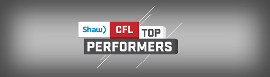 SHAW CFL TOP PERFORMERS OF WEEK 19 AND OCTOBER