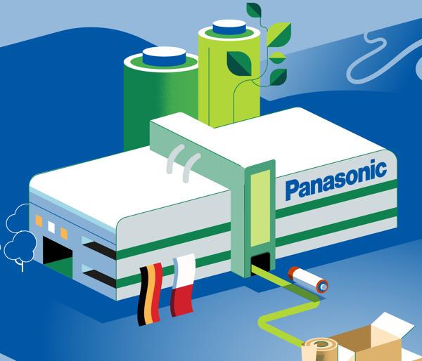 Preview: Panasonic Energy produziert in umweltfreundlichen Fabriken vor Ort, verpackt und liefert auf intelligente Weise und arbeitet ökologisch